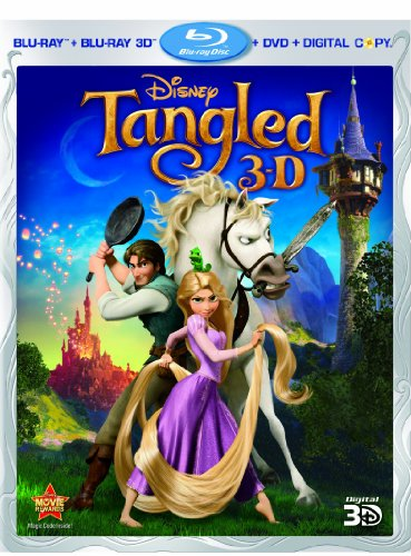 Tangled (Four-Disc Combo: Blu-ray 3D / Blu-ray / DVD / Digital Copy) System.Collections.Generic.List`1[System.String] artwork