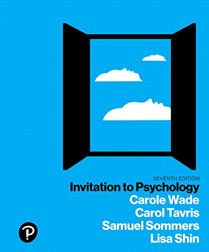 Invitation to Psychology  7th 2018 9780134550107 Front Cover