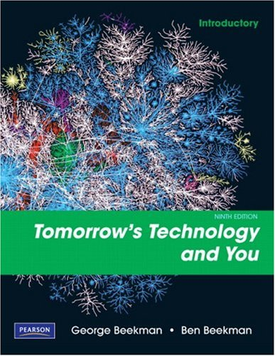 Tomorrow's Technology and You, Introductory  9th 2010 edition cover