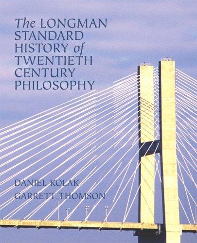 Longman Standard History of Twentieth Century Philosophy   2006 9780321235107 Front Cover