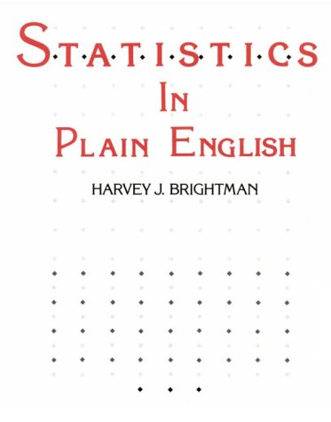 Statistics in Plain English  1st 1986 9780538132107 Front Cover