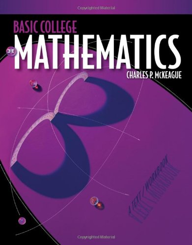 Basic College Mathematics  3rd 2011 (Workbook) edition cover