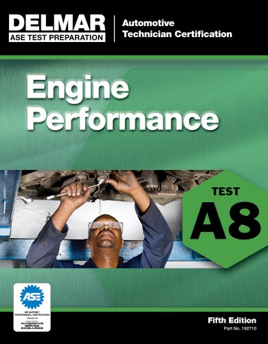 ASE Test Preparation - A8 Engine Performance  5th 2012 edition cover