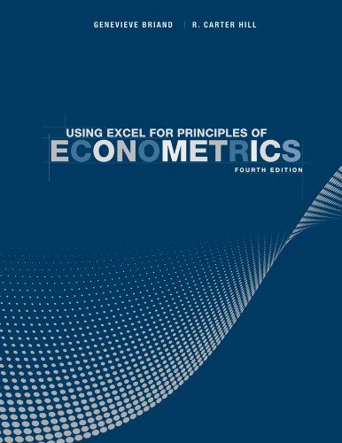 Using Excel for Principles of Econometrics  4th 2012 edition cover