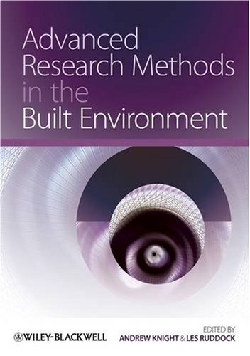 Advanced Research Methods in the Built Environment   2009 edition cover