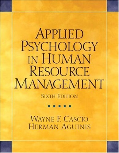Applied Psychology in Human Resource Management  6th 2005 (Revised) edition cover