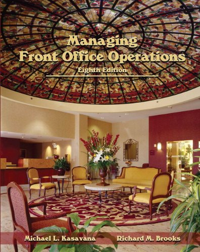 Managing Front Office Operations (Ahlei):   2012 edition cover