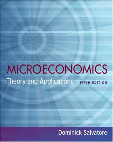 Microeconomics Theory and Applications 5th 2009 edition cover