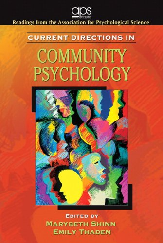 Current Directions in Community Psychology   2010 edition cover