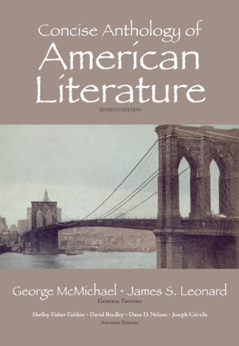 Concise Anthology of American Literature  7th 2011 edition cover