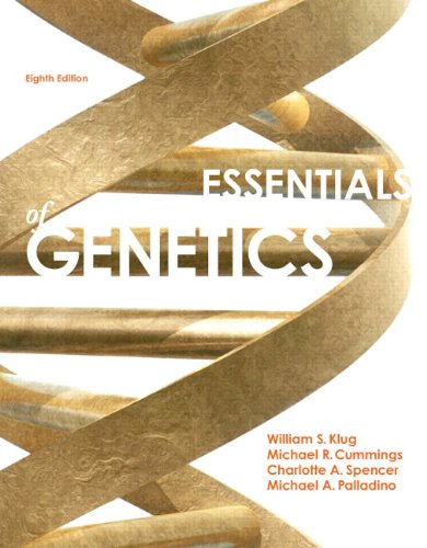 Essentials of Genetics  8th 2013 edition cover