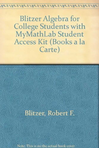 Algebra for College Students  7th 2013 edition cover
