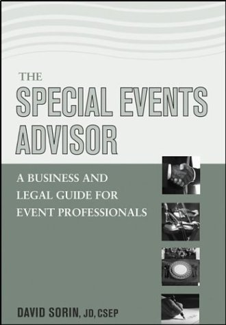 Special Events Advisor A Business and Legal Guide for Event Professionals  2003 edition cover