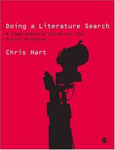 Doing a Literature Search A Comprehensive Guide for the Social Sciences  2001 9780761968108 Front Cover