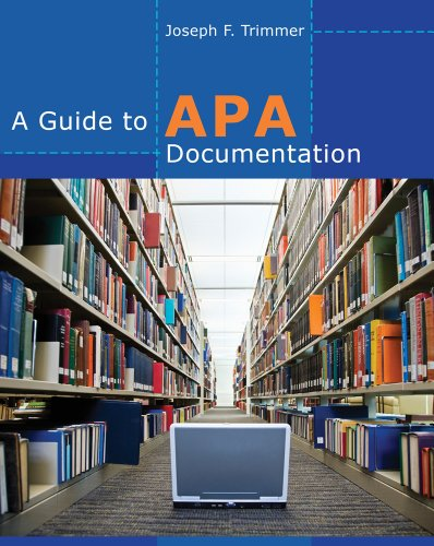 Guide to APA Documentation   2013 edition cover