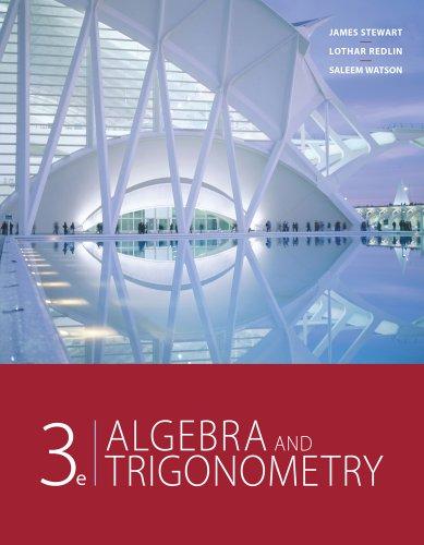 Algebra and Trigonometry  3rd 2012 edition cover