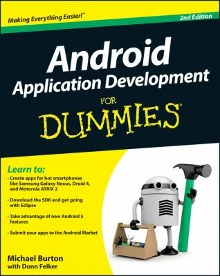 Android Application Development for Dummies�  2nd 2012 edition cover