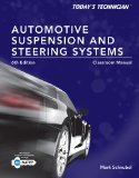 Automotive Suspension & Steering Classroom Manual and Shop Manual:   2014 edition cover