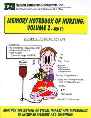 Memory Notebook of Nursing 3rd 2007 edition cover
