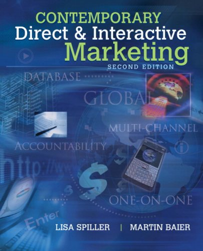 Contemporary Direct and Interactive Marketing  2nd 2010 edition cover
