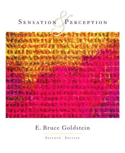 Sensation and Perception  7th 2007 edition cover