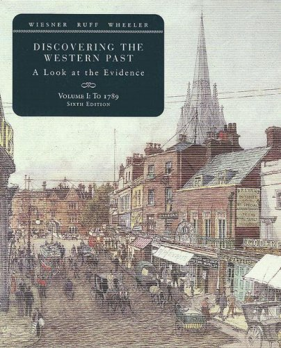 Discovering the Western Past A Look at the Evidence - To 1789 6th 2008 edition cover