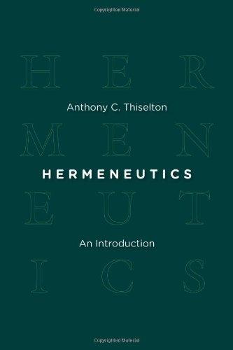 Hermeneutics An Introduction  2009 edition cover