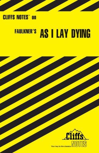 CliffsNotes on Faulkner's As I Lay Dying   1969 (Revised) edition cover