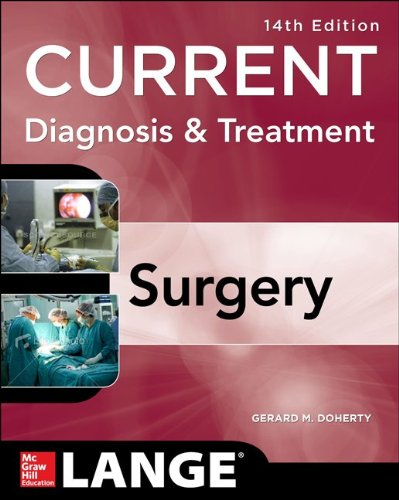 Current Diagnosis and Treatment Surgery  14th 2015 edition cover