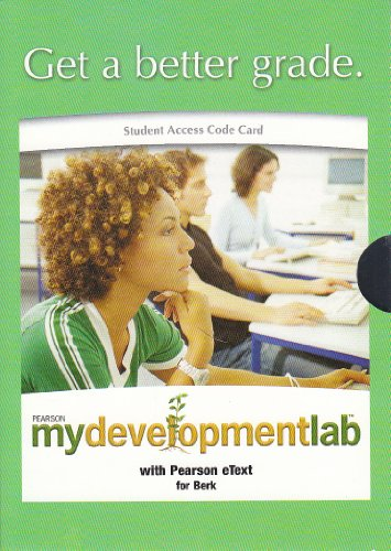 MYDEVELOPMENTLAB-STUDENT ACCES N/A edition cover