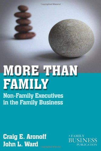 More Than Family Non-Family Executives in the Family Business  2011 9780230111110 Front Cover