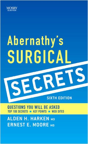 Abernathy's Surgical Secrets  6th 2009 edition cover