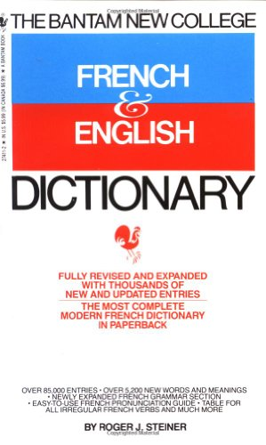 Bantam New College French and English Dictionary   1988 (Revised) 9780553274110 Front Cover