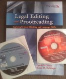 Legal Editing and Proofreading Applying Critical Thinking and Language Skills  2012 9780763844110 Front Cover