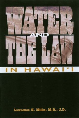 Water and the Law in Hawai'i   2004 edition cover