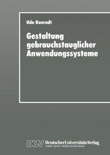 Gestaltung Gebrauchstauglicher Anwendungssysteme: Modellierung Und Konzeption Organisations- Und Aufgabenangemessener Software  1996 edition cover