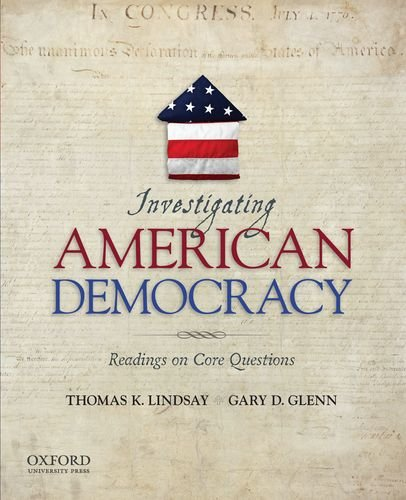 Investigating American Democracy Readings on Core Questions  2012 edition cover