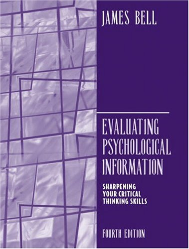 Evaluating Psychological Information  4th 2005 (Revised) edition cover