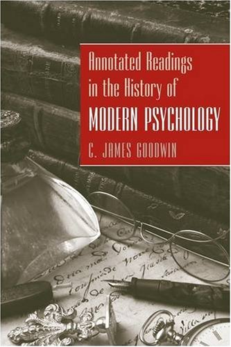 Annotated Readings in the History of Modern Psychology   2010 edition cover
