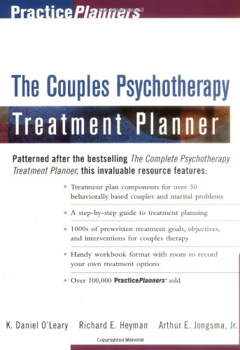 Couples Psychotherapy Treatment Planner   1998 edition cover