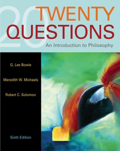 Twenty Questions An Introduction to Philosophy 6th 2007 edition cover
