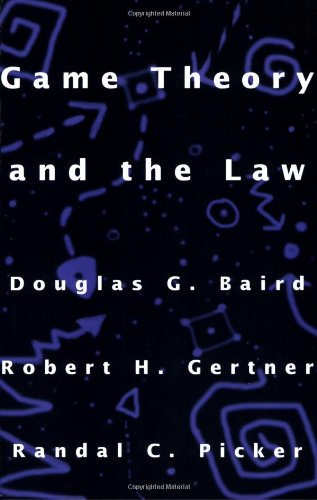 Game Theory and the Law   1994 edition cover