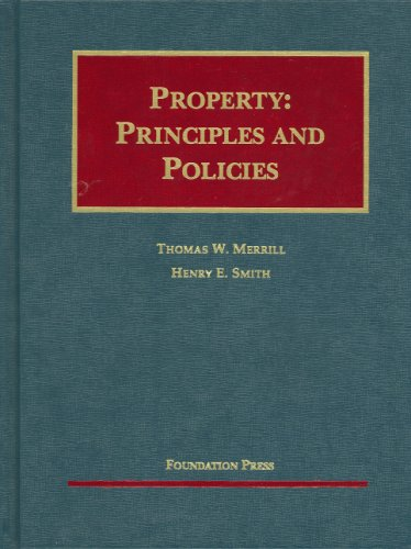 Property Principles and Policies  2007 edition cover