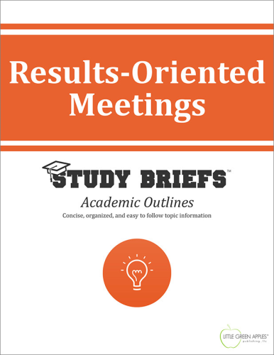 Results-Oriented Meetings   2015 9781634261111 Front Cover