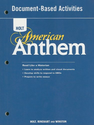 Holt American Anthem Document-Based Activities N/A 9780030377112 Front Cover