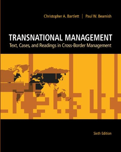 Transnational Management Text, Cases and Readings in Cross-Border Management 6th 2011 9780078137112 Front Cover