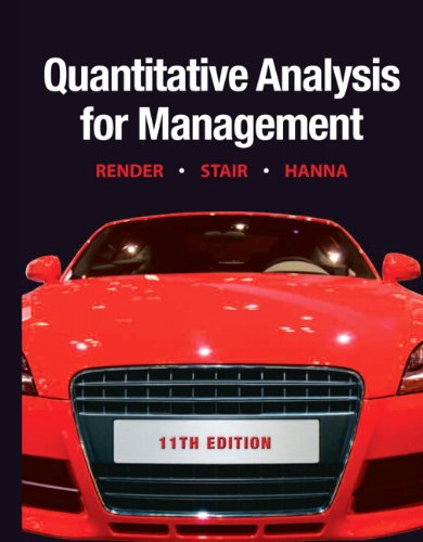 Quantitative Analysis for Management  11th 2012 (Revised) edition cover