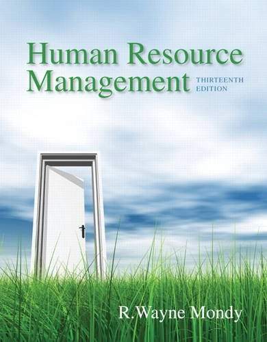 Human Resource Management  13th 2014 9780133254112 Front Cover