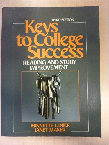 Keys to College Success  3rd edition cover