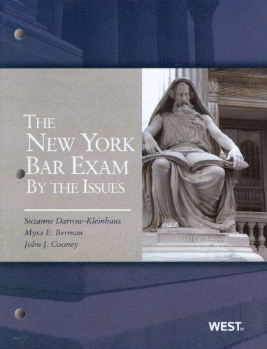 New York Bar Exam by the Issue   2012 edition cover